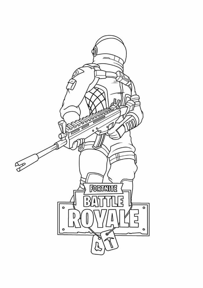 fortnite battle royale coloring page 20