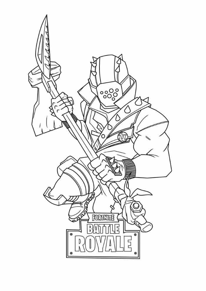 fortnite battle royale coloring page 21