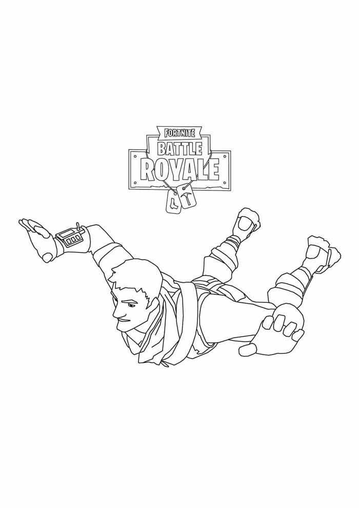 fortnite battle royale coloring page 3