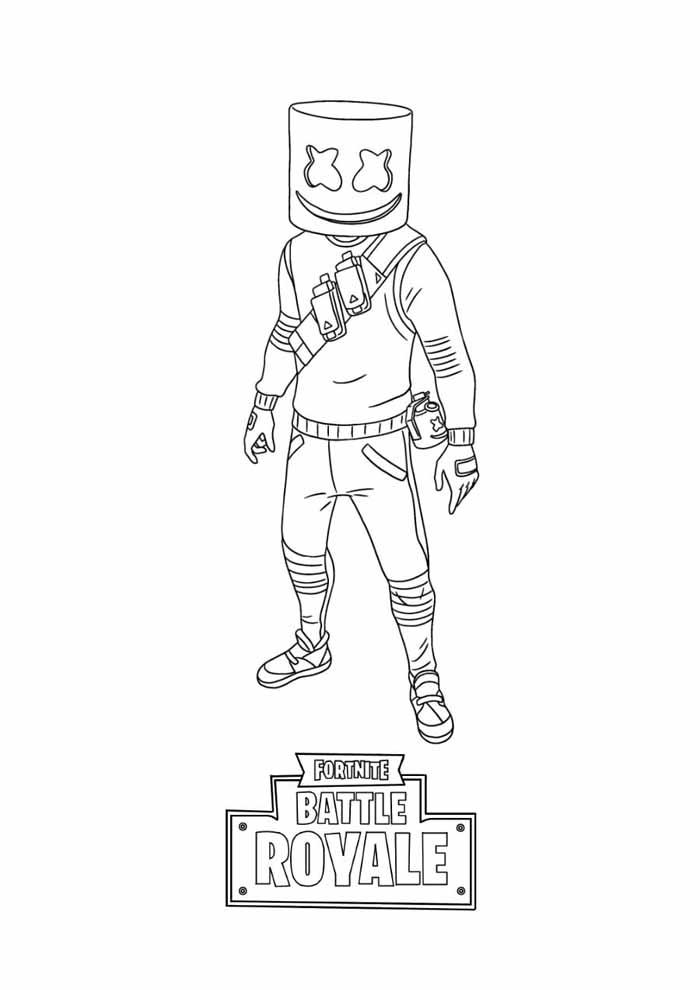 fortnite battle royale coloring page 4