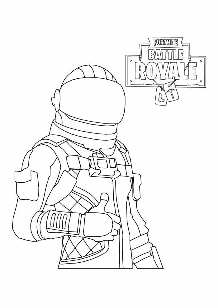 fortnite battle royale coloring page 5