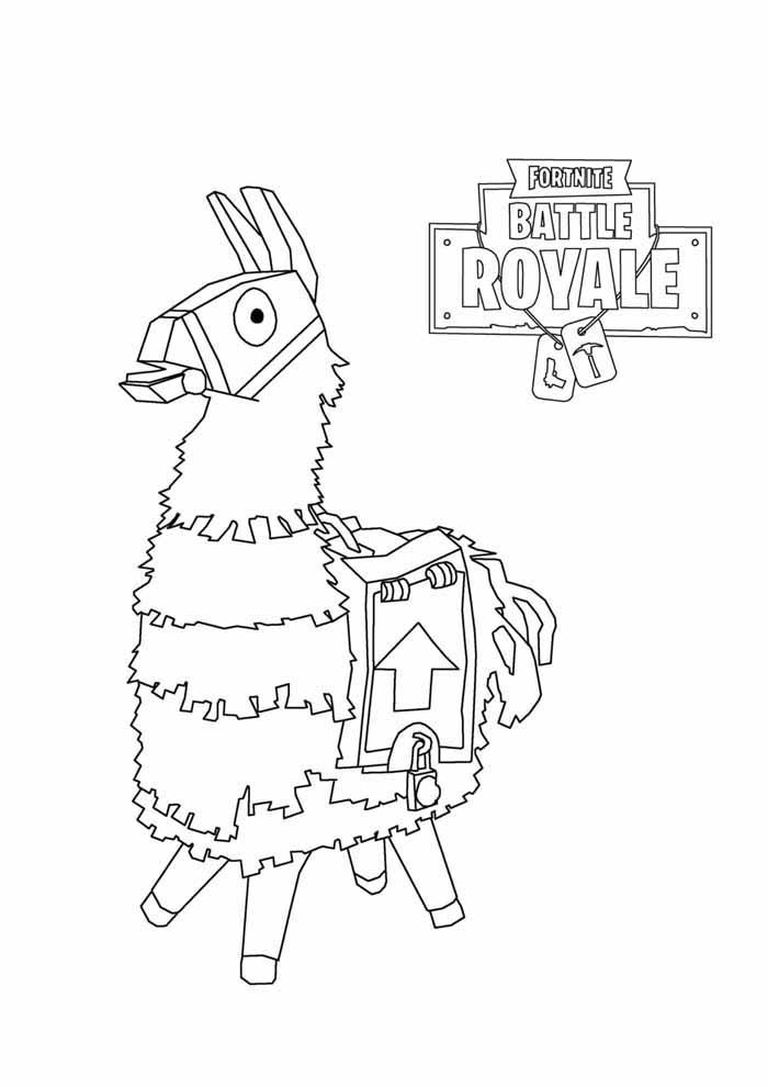 fortnite battle royale coloring page 6