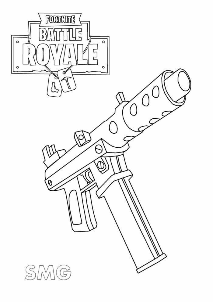 fortnite battle royale coloring page 7