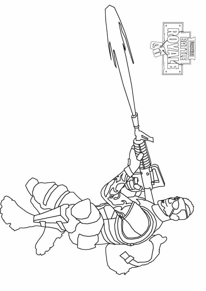 fortnite battle royale coloring page 8