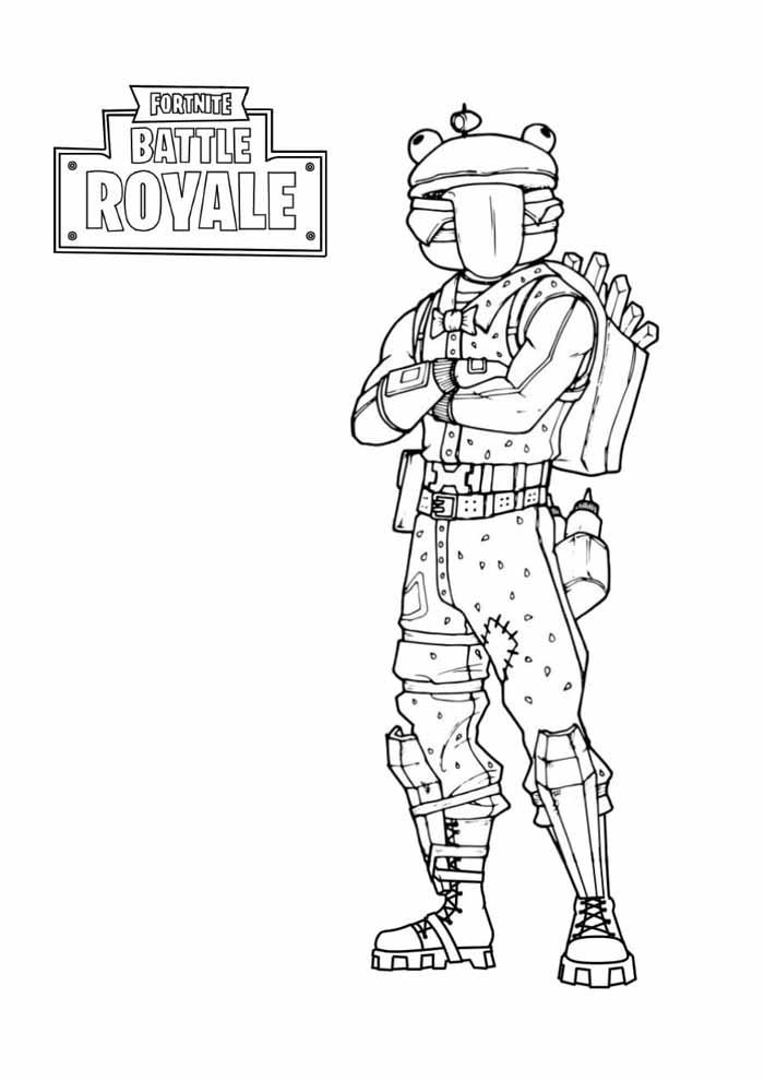 fortnite battle royale coloring page 9