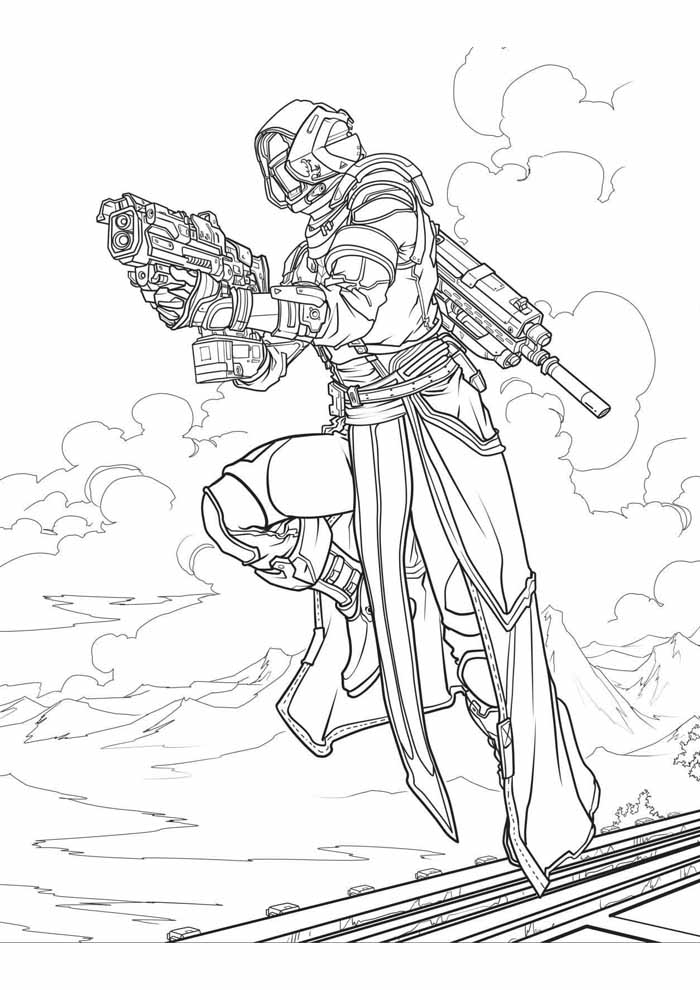 fortnite coloring page 1