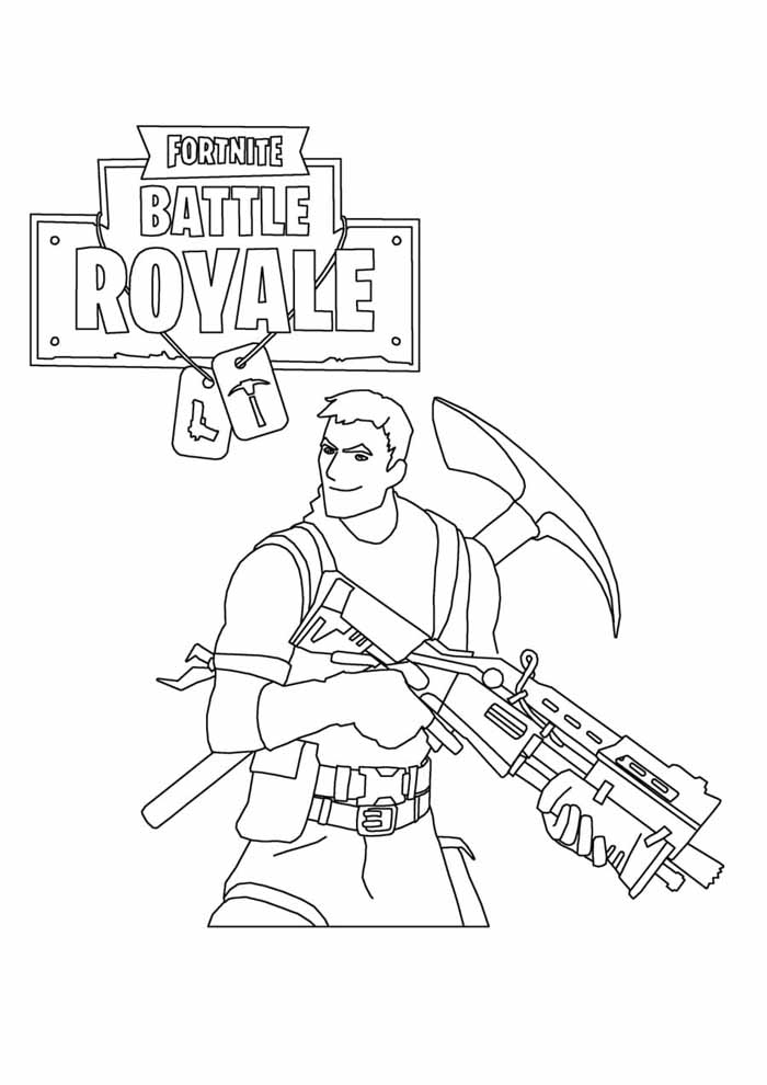 fortnite coloring page 12