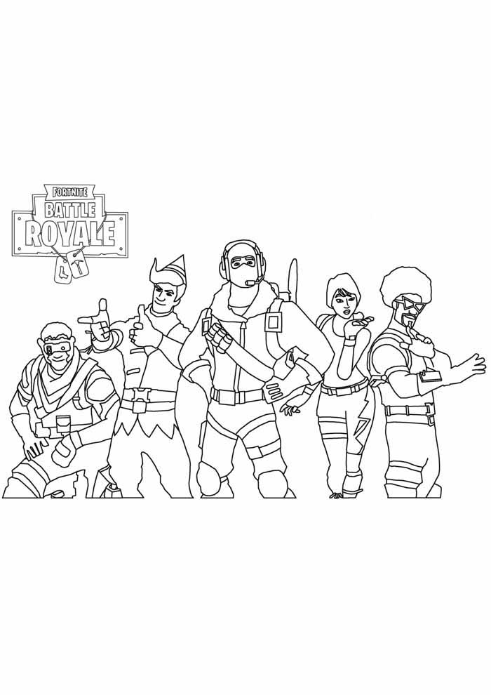 fortnite coloring page 17