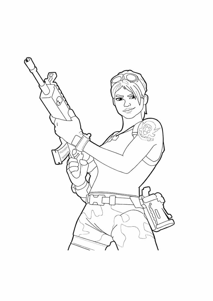 fortnite coloring page 4