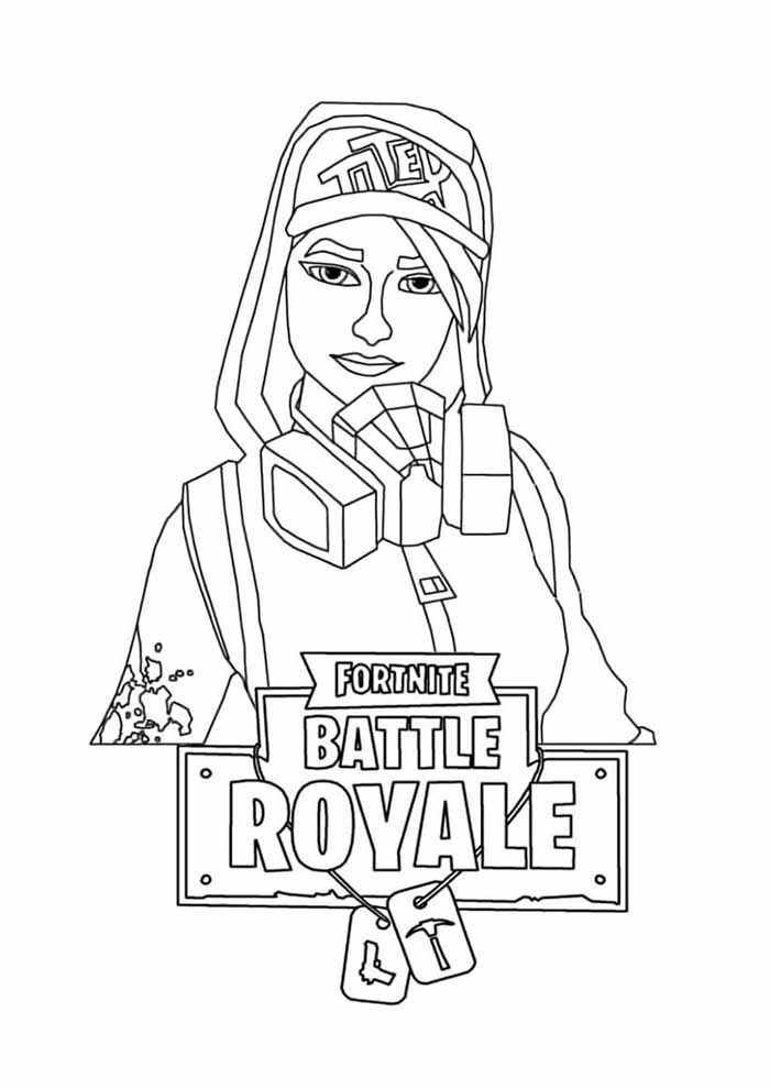fortnite coloring page 6