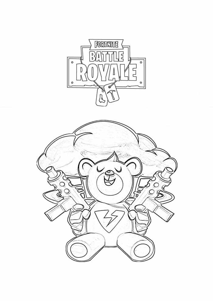 fortnite coloring page 8