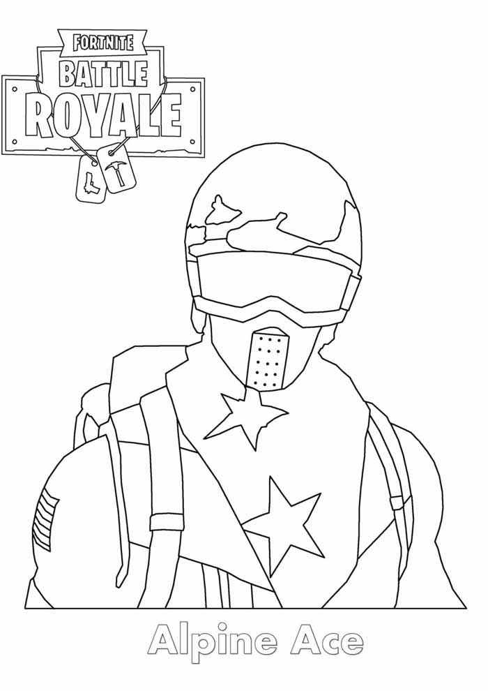 fortnite coloring page alpine ace