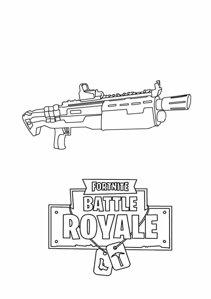 fortnite coloring page battle royale