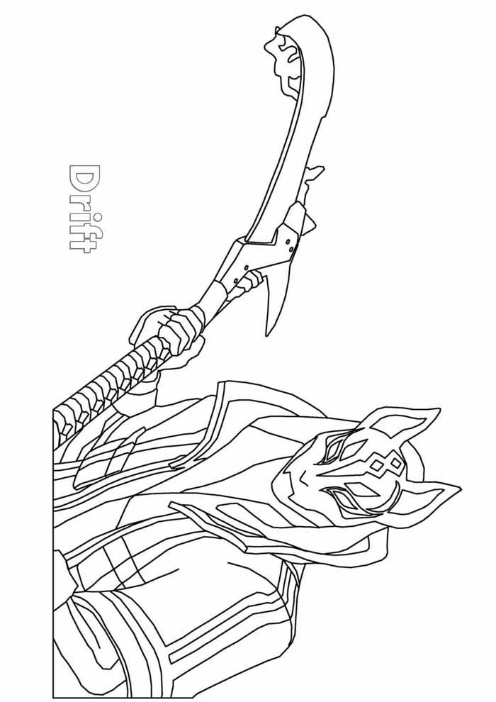 fortnite driff coloring page