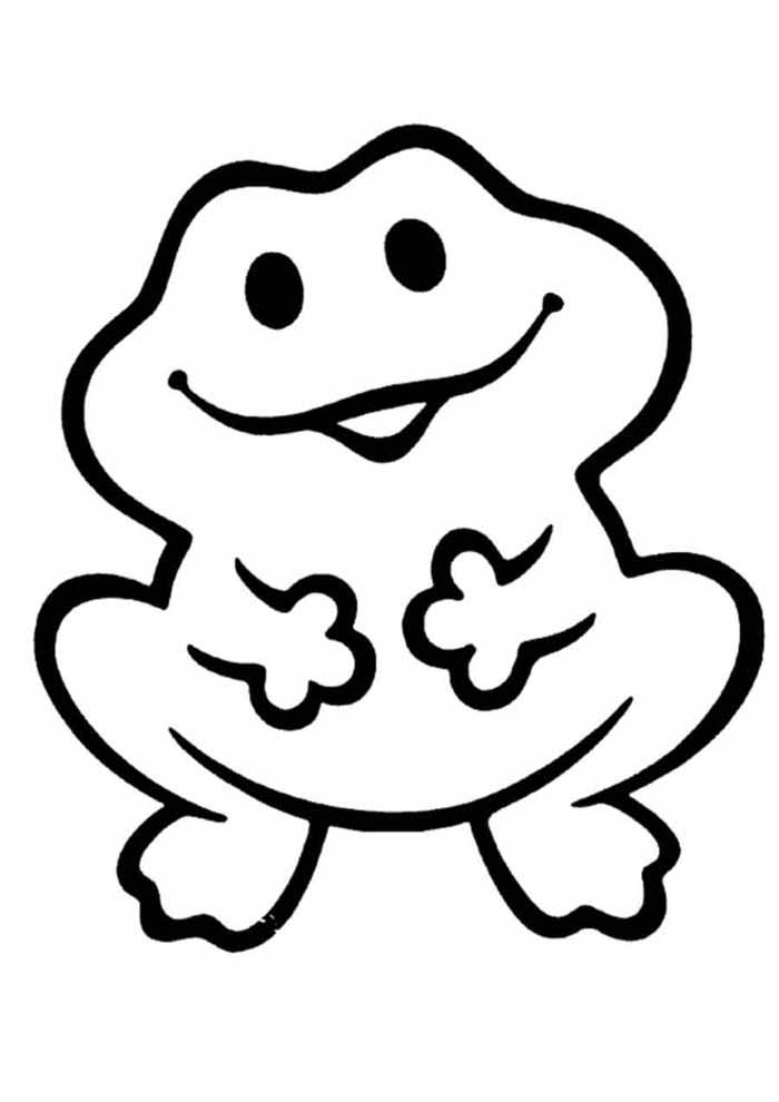 frog coloring page for kids