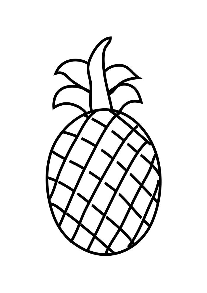 fruit coloring page 1