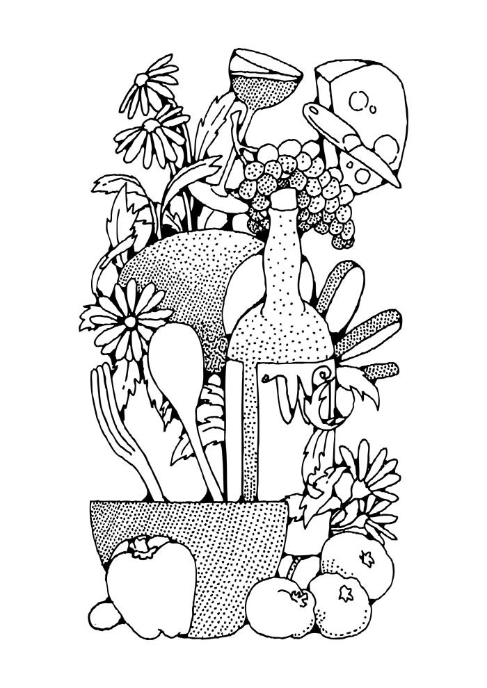 fruit coloring page 19