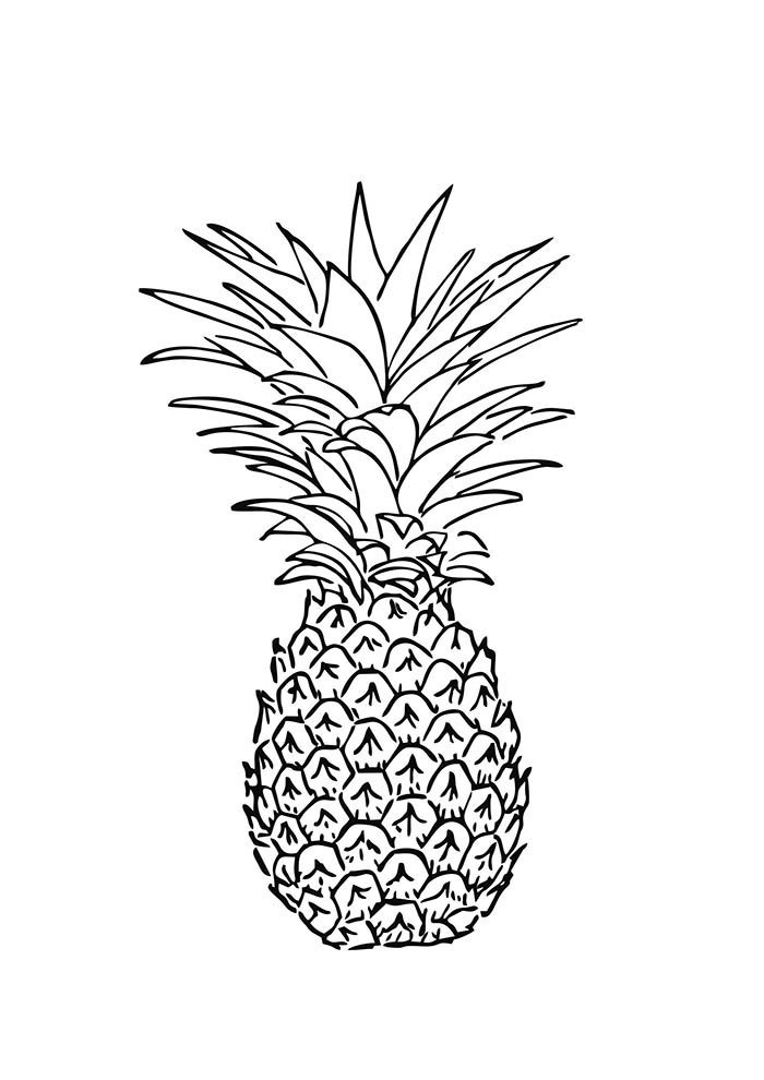 fruit coloring page 2