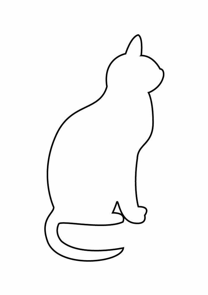 gato para colorear 60