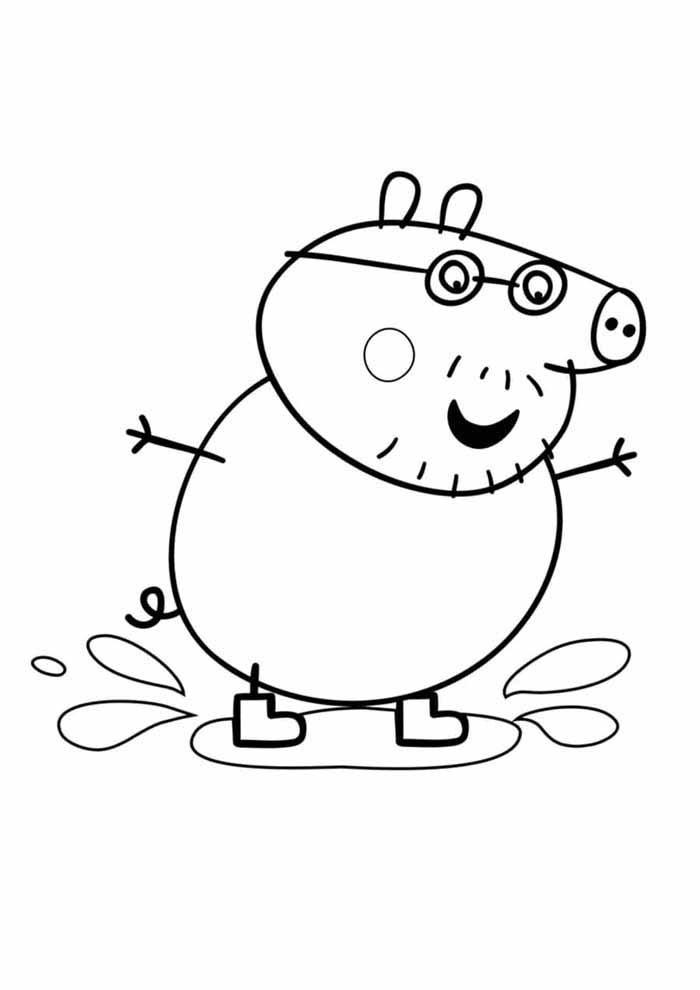 george peppa pig coloring page 1