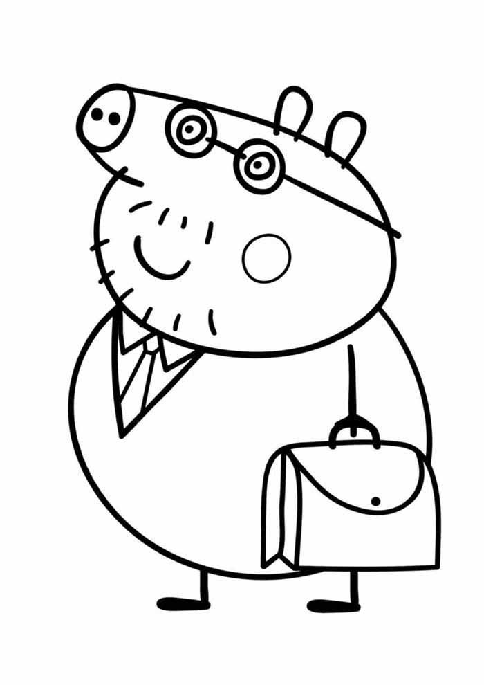 george peppa pig coloring page