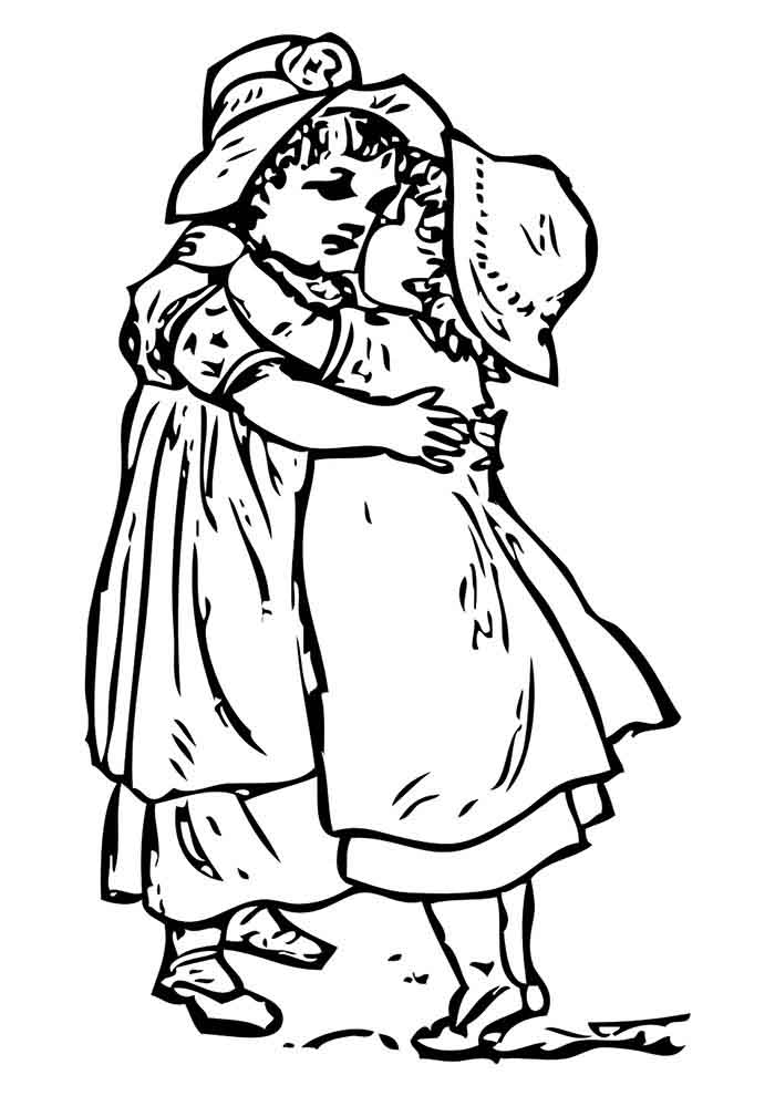 girl coloring page 1