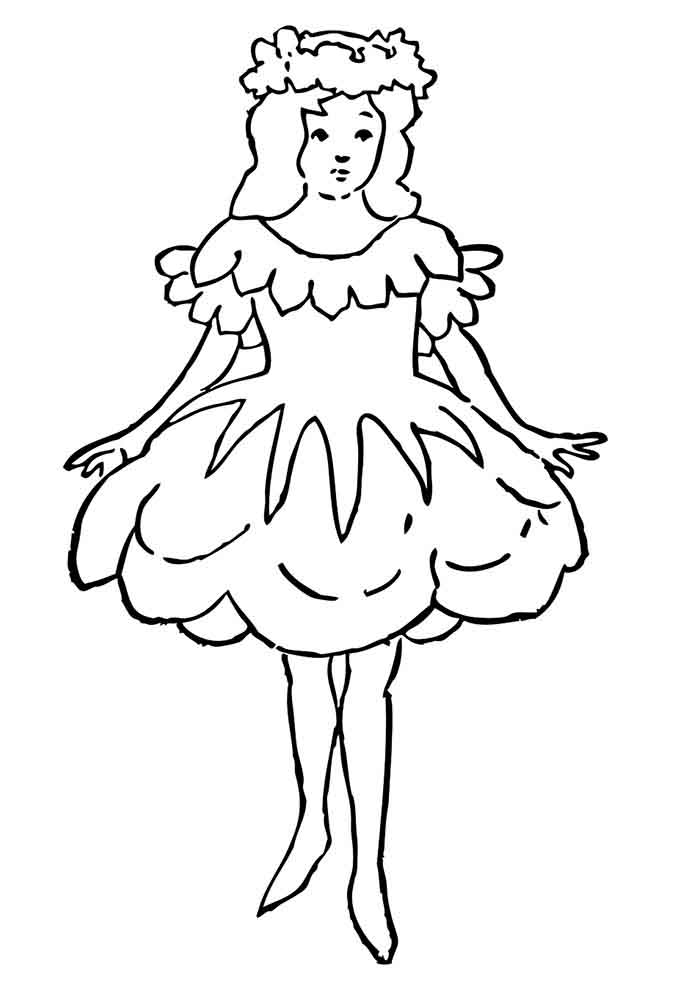 girl coloring page 10