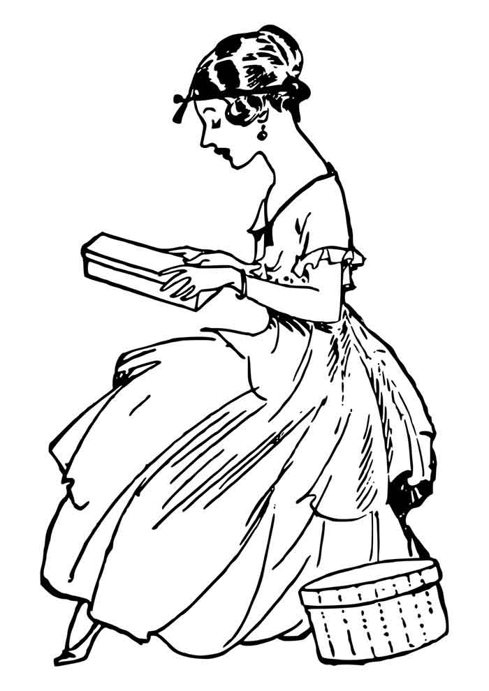 girl coloring page 11