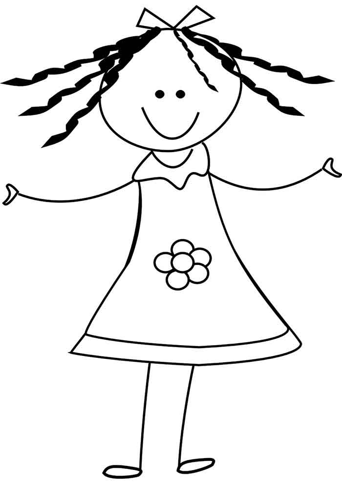 girl coloring page 15