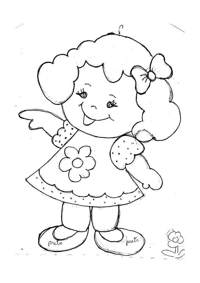 girl coloring page 21
