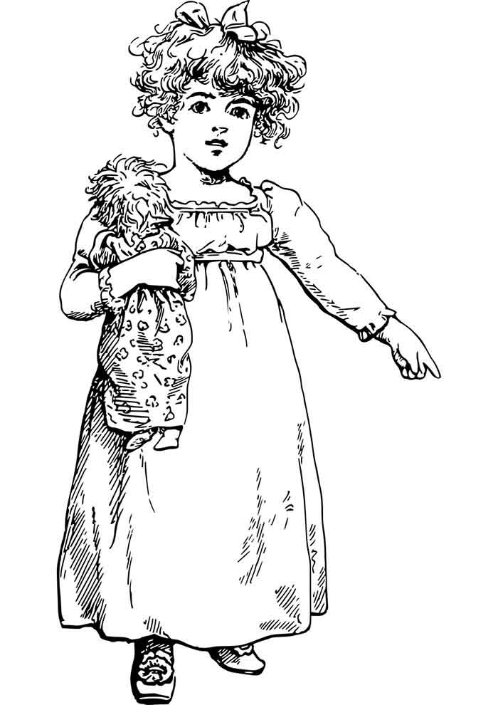 girl coloring page 22