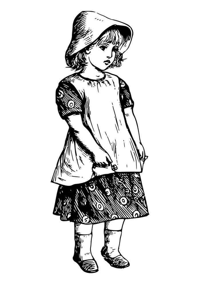 girl coloring page 23
