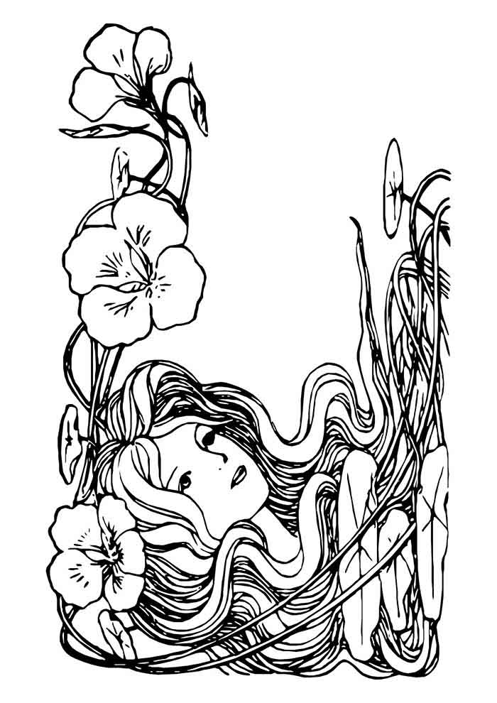 girl coloring page 24