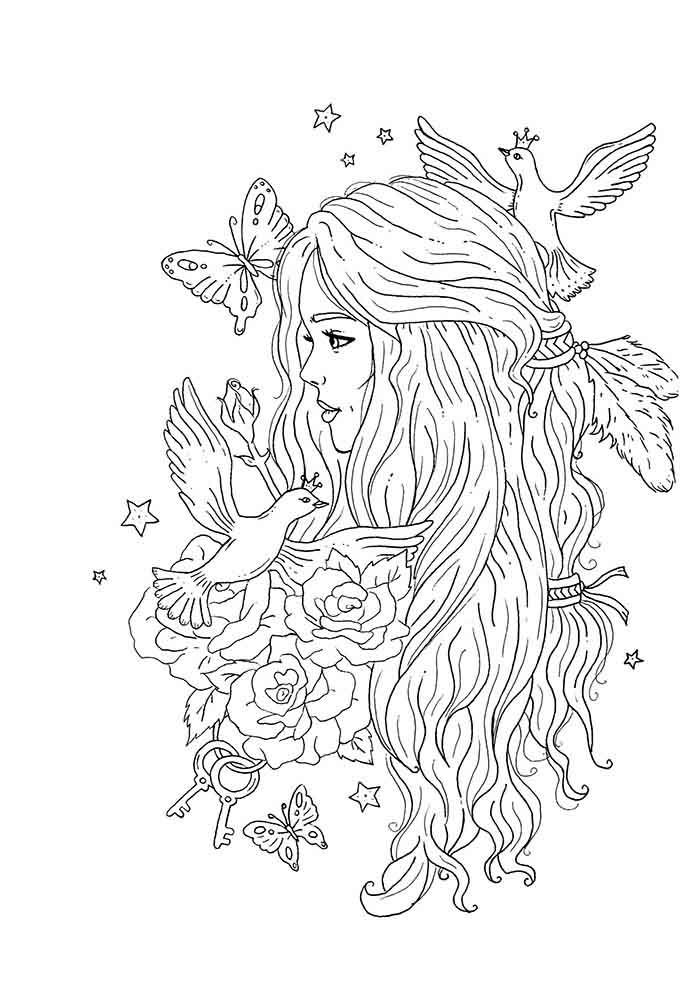 girl coloring page 27