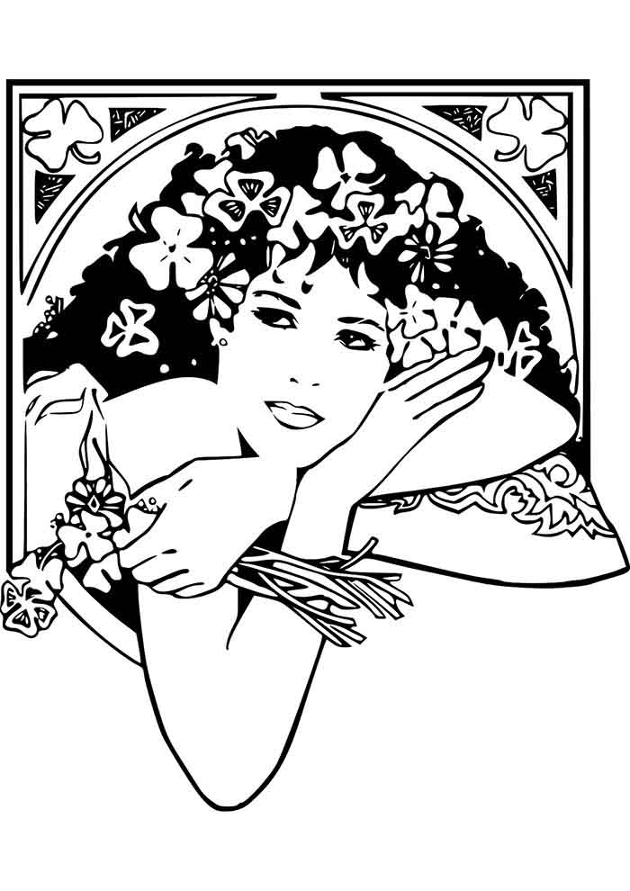 girl coloring page 34