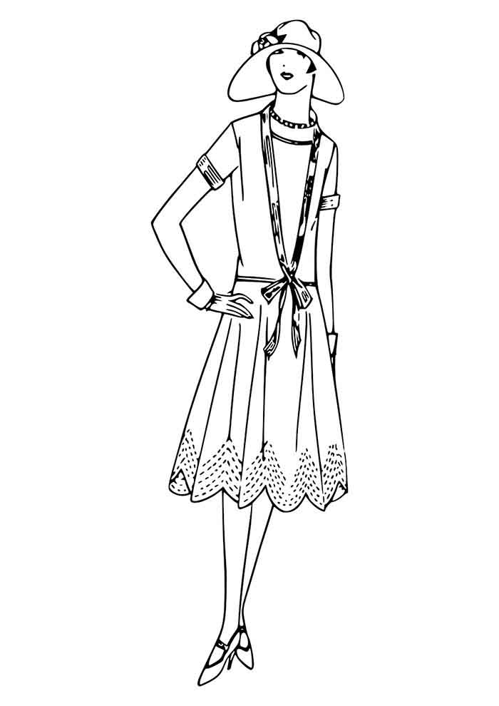 girl coloring page 37