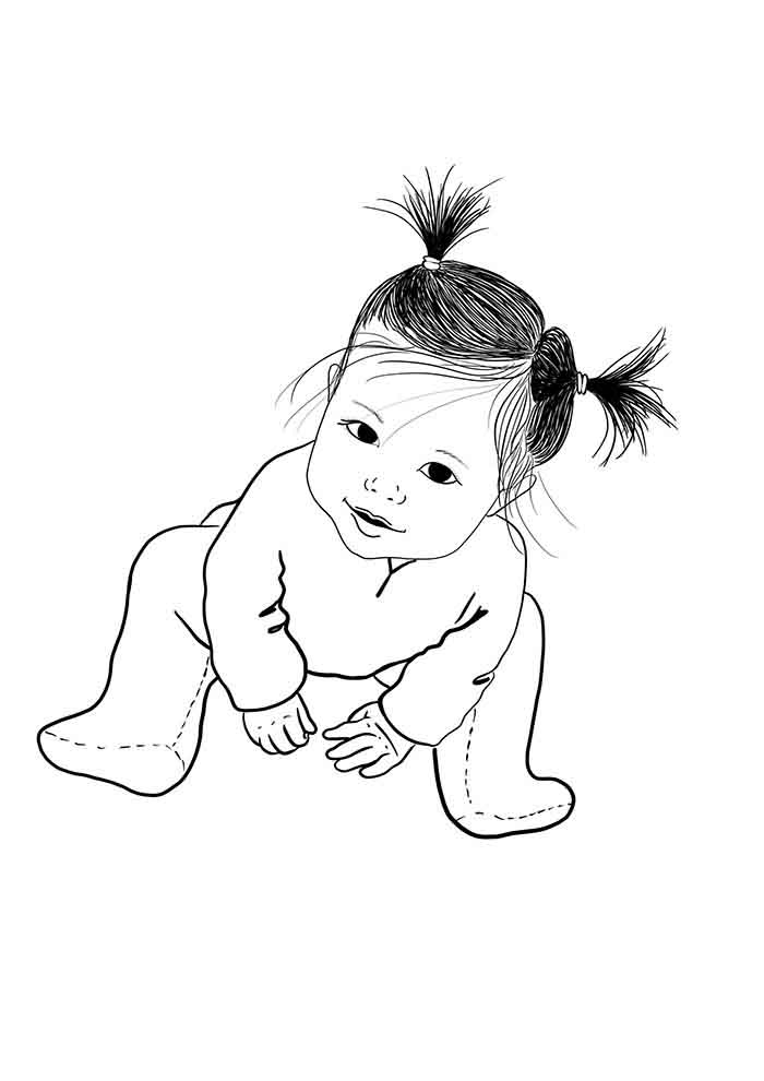 girl coloring page 4