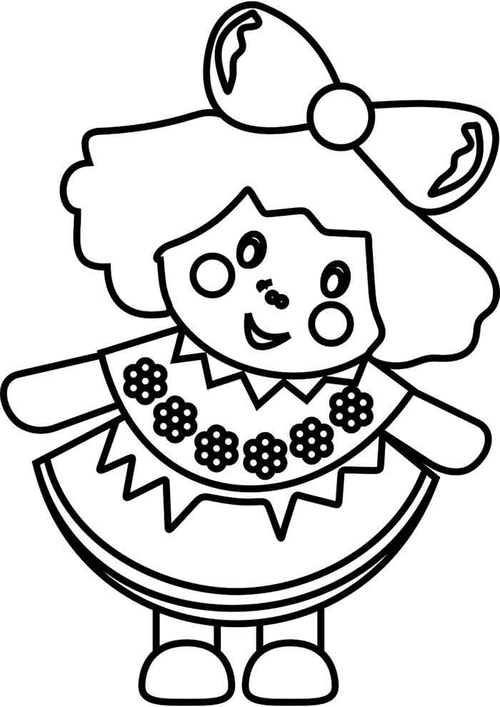 girl coloring page 6