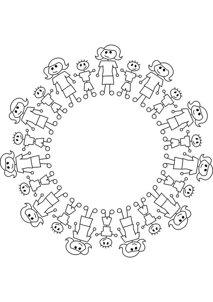 girl coloring page 7