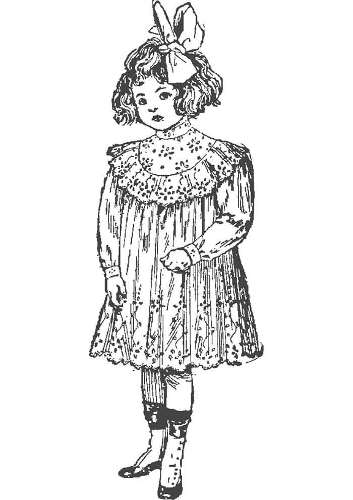 girl coloring page 8