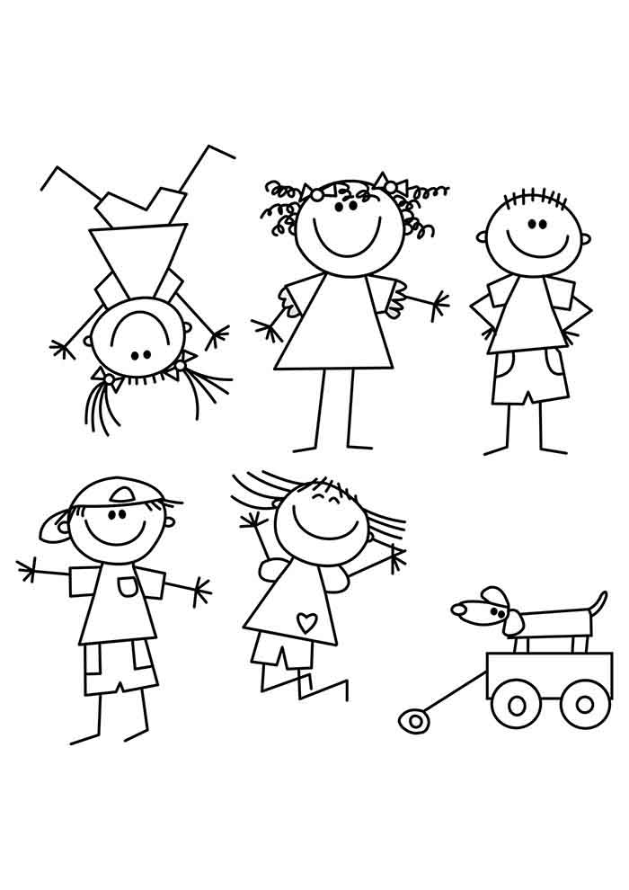 girl coloring page 9