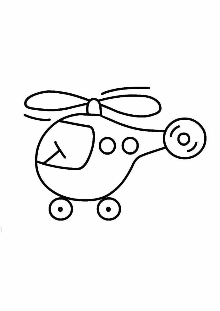 helicopter coloring page for kids