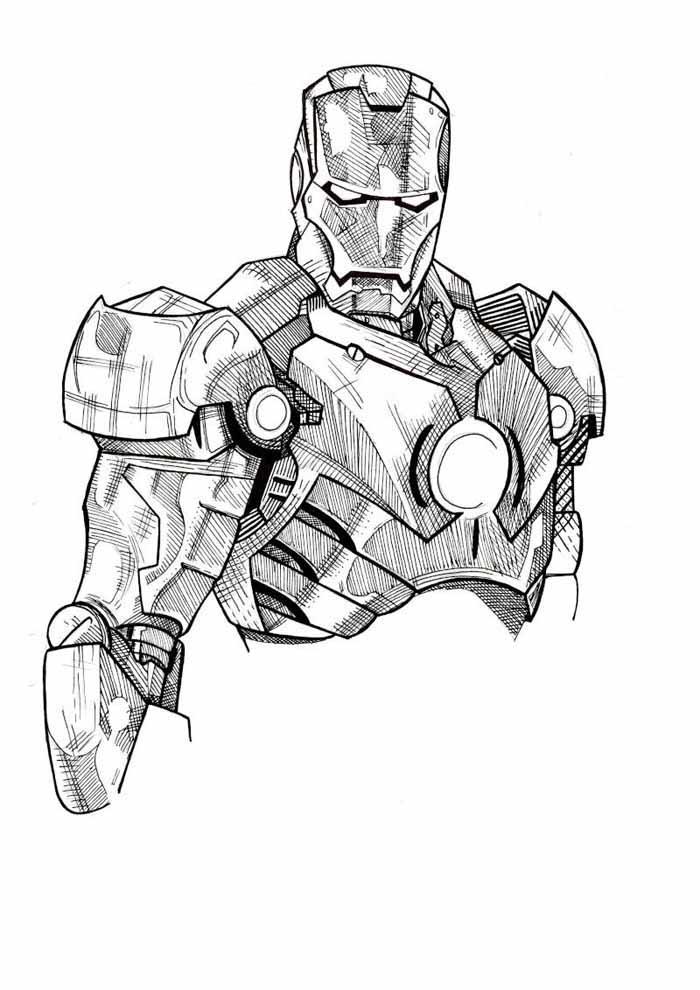 iron man para colorear 10