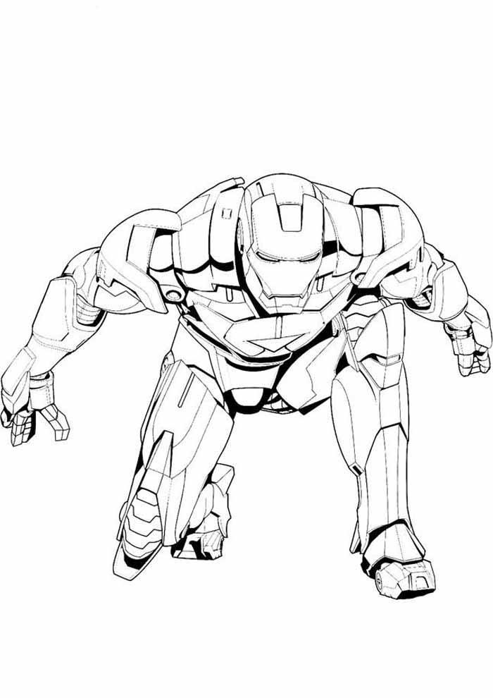 iron man para colorear 11