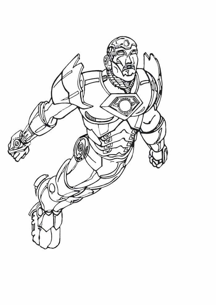 iron man para colorear 13