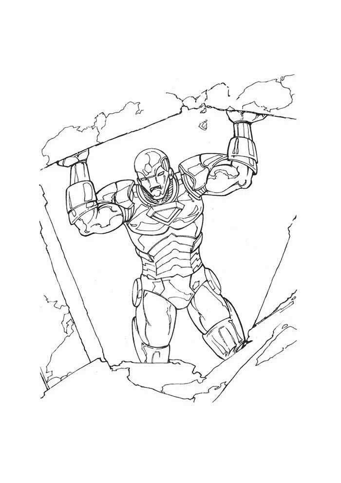 iron man para colorear 14