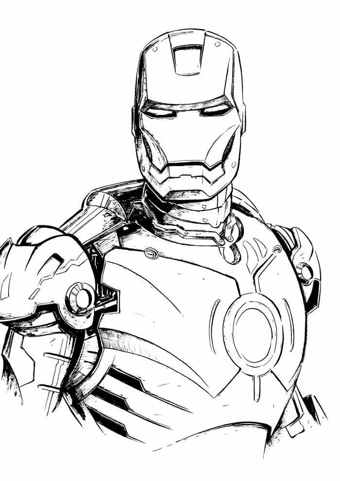 iron man para colorear 20
