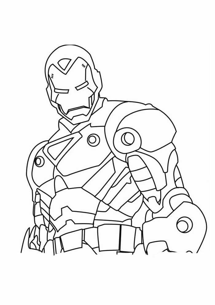 iron man para colorear 21
