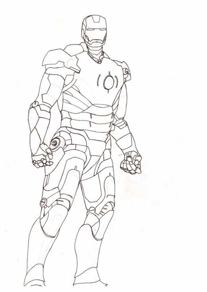 iron man para colorear 22