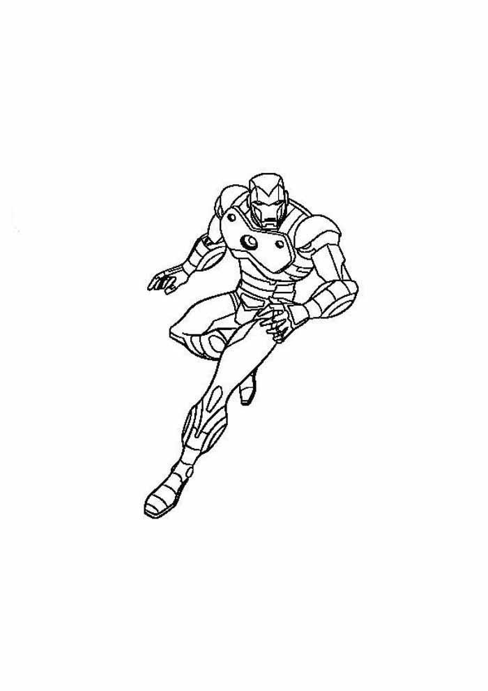iron man para colorear 26